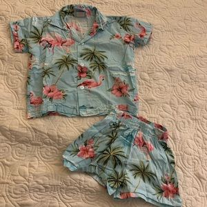Toddler Boys Hawaiian Set Size 3T GUC